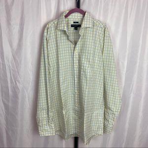 Pronto Uomo Non Iron Dress Shirt, sz 17 36/37 Tall